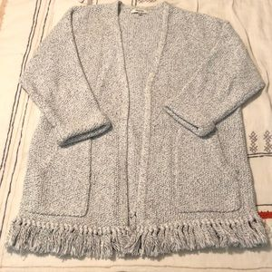 Madewell 100% Cotton Fringe Cardigan